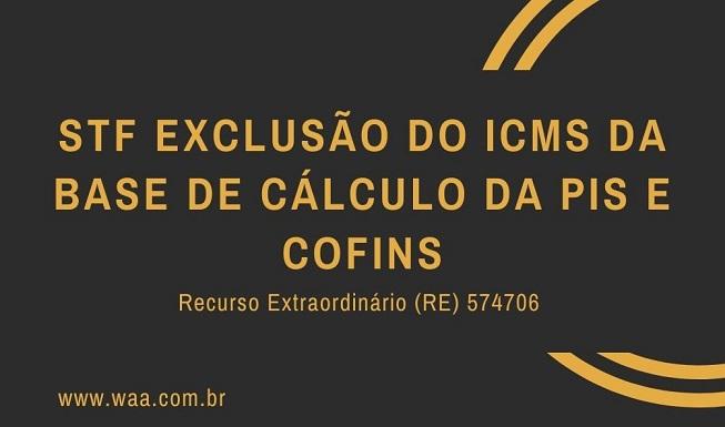 STF Exclusão do ICMS da Base de Cálculo da pis e cofins